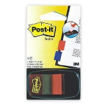 Indeksi 3M Post-it 680-1 sarkani 25x43mm/50l.