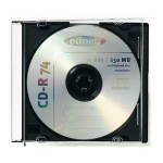 "Kastīte CD-1""slim""melna CD box 1pcs"